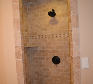 Tile shower by Artisan Construction, 7321 N Antioch Gladstone, MO  64119