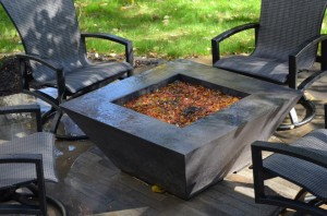 Custom Concrete Fire pit by Artisan Construction, 7321 N Antioch Gladstone, MO  64119