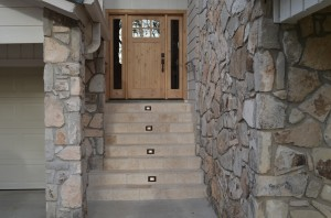 Front door installation by Artisan Construction, 7321 N Antioch Gladstone, MO  64119
