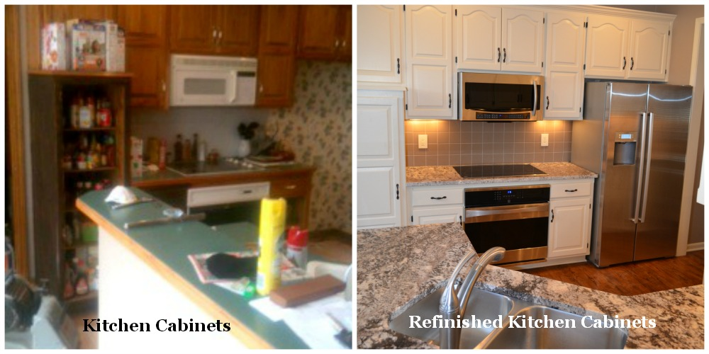 Remodel Kitchen Cabinets With Refinishing Before And After