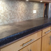 Concrete kitchen countertops by Artisan Construction, 7321 N Antioch Gladstone, MO  64119
