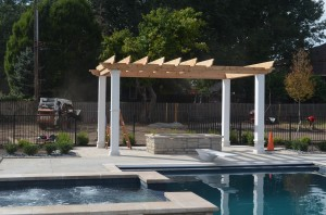 "img scr=""pergola-design.jpg"" alt=""Pergola by a pool, Kansas City, Artisan Construction"