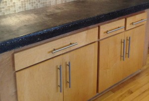Counter tops in a kitchen remodel